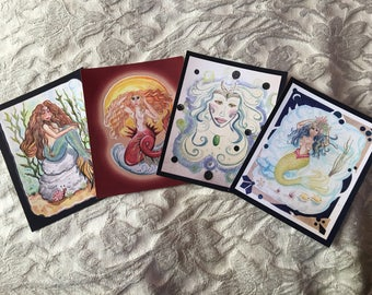 Assorted Mermaid Stickers: Set of Four