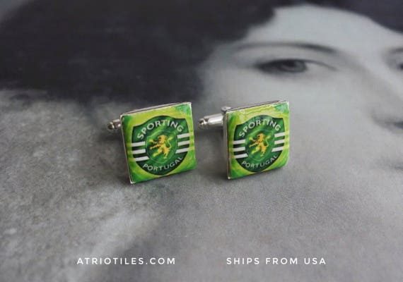Portugal SOCCER FUTEBOL SPORTING Cuff Links!