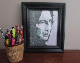 Severus Snape from Harry Potter Word Art Print-Look Close, Made from Text!