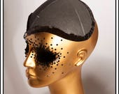 Large Fascinator Hat Base Black with Lining... Base For Headdress Hat Millinery Foam DIY