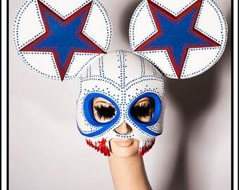 Blood White And Blue Balls…. Mouse Skull Mask Headdress