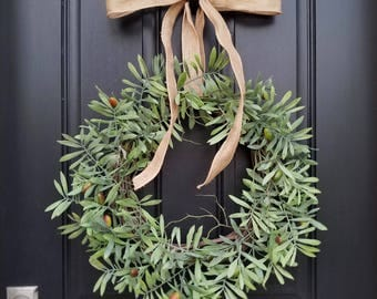 Hope for New Year, PEACE WREATH, Olive Branch Wreath, Tropical Wreaths, Sign of Peace, New Year Decor, Artificial Olive Branch Wreath