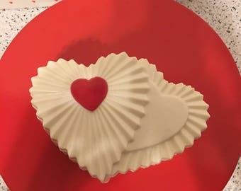 Chocolate Heart Candy Dish, Chocolate Valentine Heart Candy Dish
