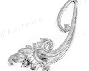 "7/16"" Flower Branch Bali Handmade 925 Sterling Silver Design Component Finding"