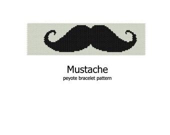 Mustache - Peyote Bracelet Pattern - INSTANT DOWNLOAD