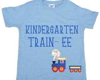 Back to School Boy T Shirt Kindergarten Tee shirts 1st Grade Shirt  Girl Tees Train Shirts