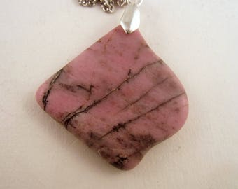 Rhodonite Pendant necklace jewlery hand made