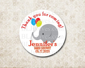 Custom Baby Shower Stickers Thank You Stickers Labels Party Favor Treat Bag Sticker SB017