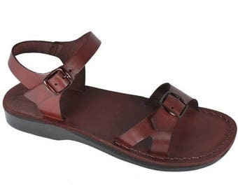 15% OFF Brown Billa Leather Sandals For Men & Women - Handmade Sandals, Leather Flats, Leather Flip Flops, Unisex Sandals, Brown Leather Sa