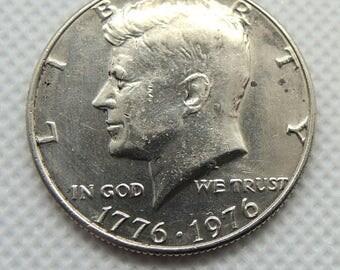1776-1976 Kennedy Half Dollar, Kennedy BiCentennial Half Dollar, Silver Coins, Vintage Coins, Rare Coins, FREE Shipping