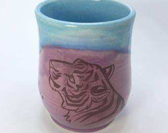 Purple and Turquoise Tiger Mug