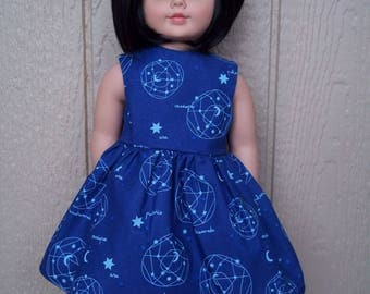 "Constellation dress for any 18"" doll"