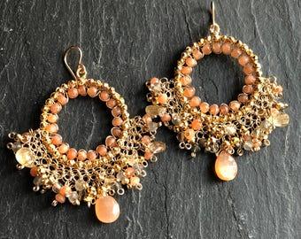 Sunset Chandelier Earrings