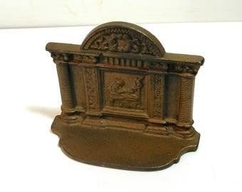 Cast Iron Bookend Greek Revival  Bronze Look
