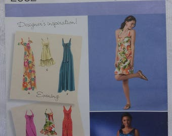 Simplicity 2582 Sewing Pattern, Misses' Women's Dress in Three Lengths, Women Summer Day Dresses, Evening Dress, Size 6, 8, 10, 12, 14
