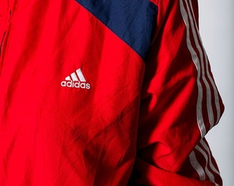 40% OFF The Red White and Blue USA Adidas Zip Up Windbreaker Jacket