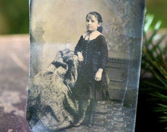 Florence Henry Bell took a long time preparing for this special photo... tintype photo XVIII century photo L Bag 3