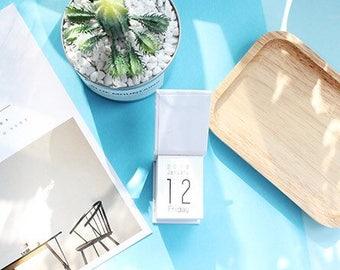 2018 Daily Mini Day Calendar