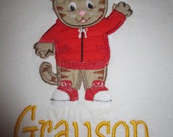 Custom Daniel Tiger Applique Shirt