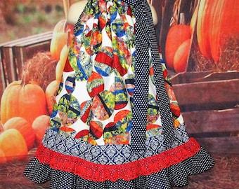 SALE Girls Dress 4T/5 Blue Marbles, Blue Dot Pillowcase Dress, Pillow Case Dress, Sundress, Boutique Dress