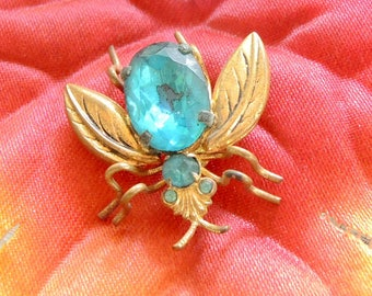 Vintage Bug Brooch, Fly Pin, Fly Scatter Pin