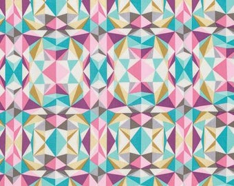 Prismatic in Pink from Joel Dewberry's Modernist collection choose your length YES! Combined Shipping  and continuous cuts