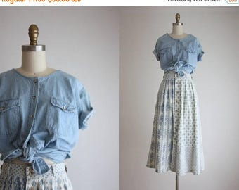 25% SALE denim smock blouse