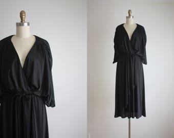 1970s draped wrap dress