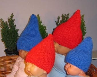 40% OFF SALE Instant Digital File pdf download madmonkeyknits Baby Gnome Hats -2 designs in 1 pattern -pdf knitting pattern