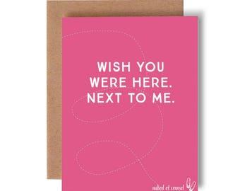 wish you were here...naked of course // greeting card // humor // skel // skel design // skel & co