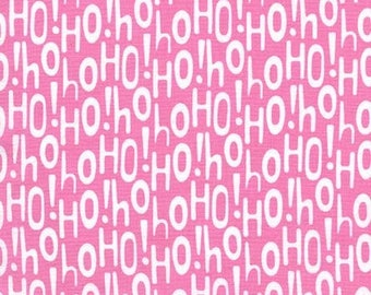 Michael Miller Fabric Holiday Row Collection, Holiday Ho! in color Pink