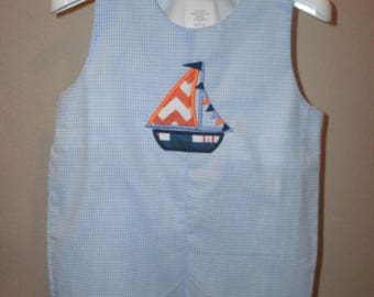 ON SALE PERSONALIZED Sailboat Jon Jon Monogrammed Shortall