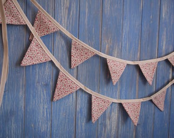 Tiny Bunting. Shabby Chic Bunting //  Bunting // Floral Bunting // Wedding Decor // Party Bunting // Handmade Bunting // Garland.