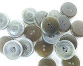 Olive Green Buttons - 3/4 inch - set of 23