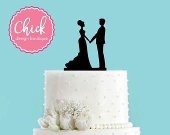 Couple Holding Hands Acrylic Wedding Cake Topper