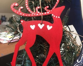 Swedish whimsical reindeer ornament