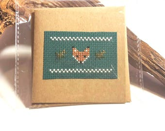 Custom/Personalised Cross Stitch Greetings or Birthday Card