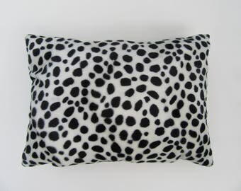 """Small lumbar cushion, soft animal print pillow, with insert, 17"""" x 13"""" zebra, cow, jaguar, spotted cat or painted horse"""