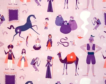 1001 Peeps in Purple by Lizzy House for Andover Fabrics Cotton Fabric - 1 yard
