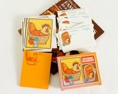Vintage 1970s Kitchen Stationary Set, Current Kitchen Cookery, Recipe Cards Notepad Blank Cards with Envelopes