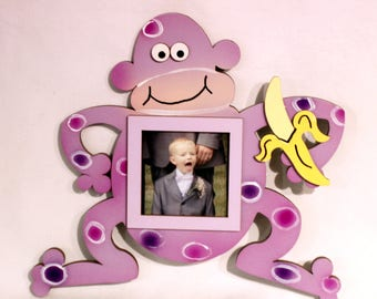 monkey picture frame hand painted wooden frame - Monkey Picture Frame