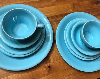Vintage Blue/Tiffany  Dish Place setting
