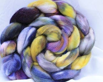Hand painted Polworth silk 4.1 oz/116 grams #176