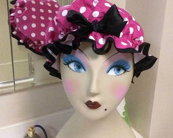 retro pin up girl shower cap