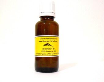 Bergamot Essential Oil BF U Pick Size  100% Essential Oil Uncut Citrus bergamia, cold pressed peel, Italy.
