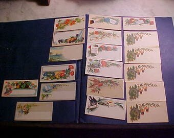Lot Vintage 1900s CALLING Card Samples/Place Cards Beautiful Clr Designs Use/Scrapbooking