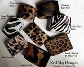 12 Pack Leather Cuff Cowhide Leather Bracelet Cheetah Print Leopard Print Animal Print Cuffs Gold Metallic Acid Wash Leather Jewelry Design