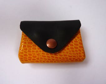 Leather wallet, without seams, AOR.