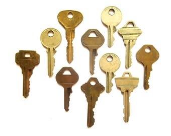 Key collection 11 keys Vintage stamping keys Antique keys DIY Stamping key Old keys for stamping Blank keys Blank side Stampable A1 BK #15A