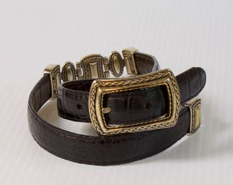 Vintage Brighton belt reversible brown and black leather size small